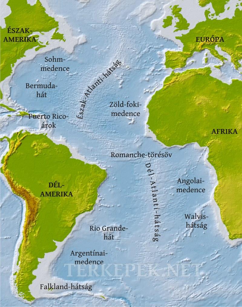 indiai óceán térkép Atlanti óceán domborzati térképe